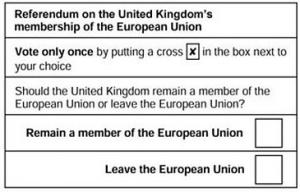 Referendum ballot paper